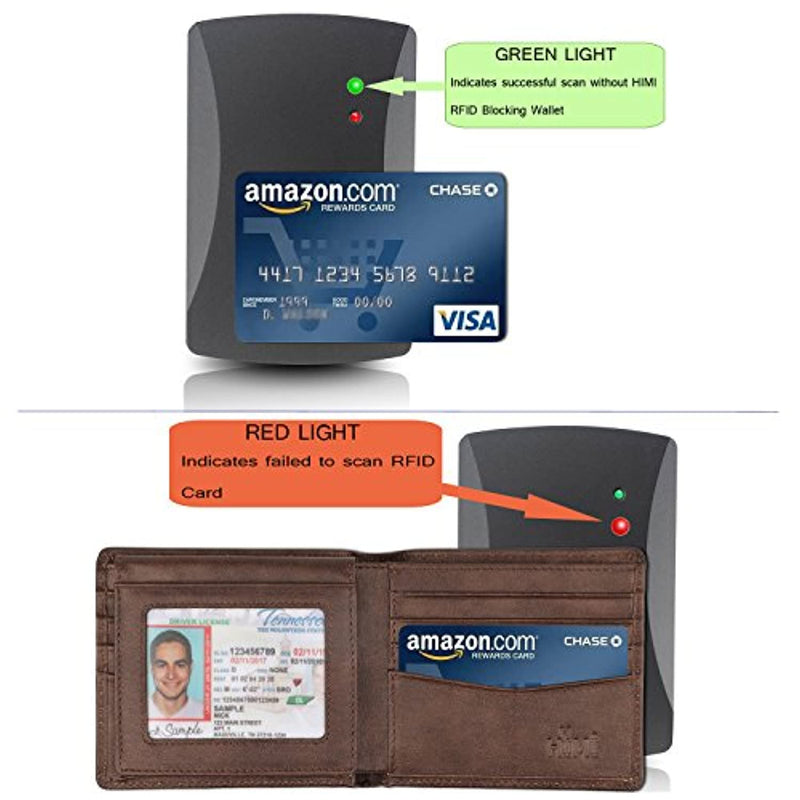 Classier: Buy HIMI Wallet for Men-Genuine Leather RFID Blocking Bifold Stylish Wallet With 2 ID Window