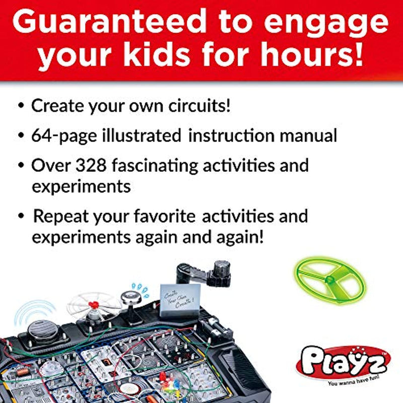 Classier: Buy Playz Playz Advanced Electronic Circuit Board Engineering Toy for Kids | 328+ Educational Experiments to Wire & Build Smart Connections Using Creative Knowledge of Electricity | Science Gift for Children