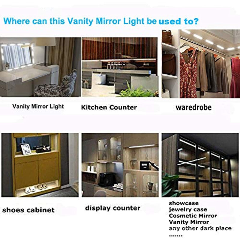Classier: Buy LPHUMEX Led Vanity Mirror Lights, Hollywood Style Vanity Make Up Light, 10ft Ultra Bright White LED, Dimmable Touch Control Lights Strip, for Makeup Vanity Table & Bathroom Mirror, Mirror Not Included