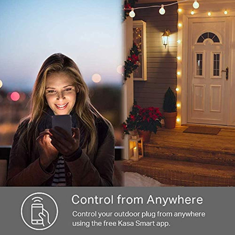 Classier: Buy Kasa Smart Kasa Outdoor Smart Plug by TP-Link, Smart Home Wi-Fi Outlet with 2 Sockets, Works with Alexa & Google Home, No Hub Required, Remote Control, Sunset & Sunrise Offset (KP400)