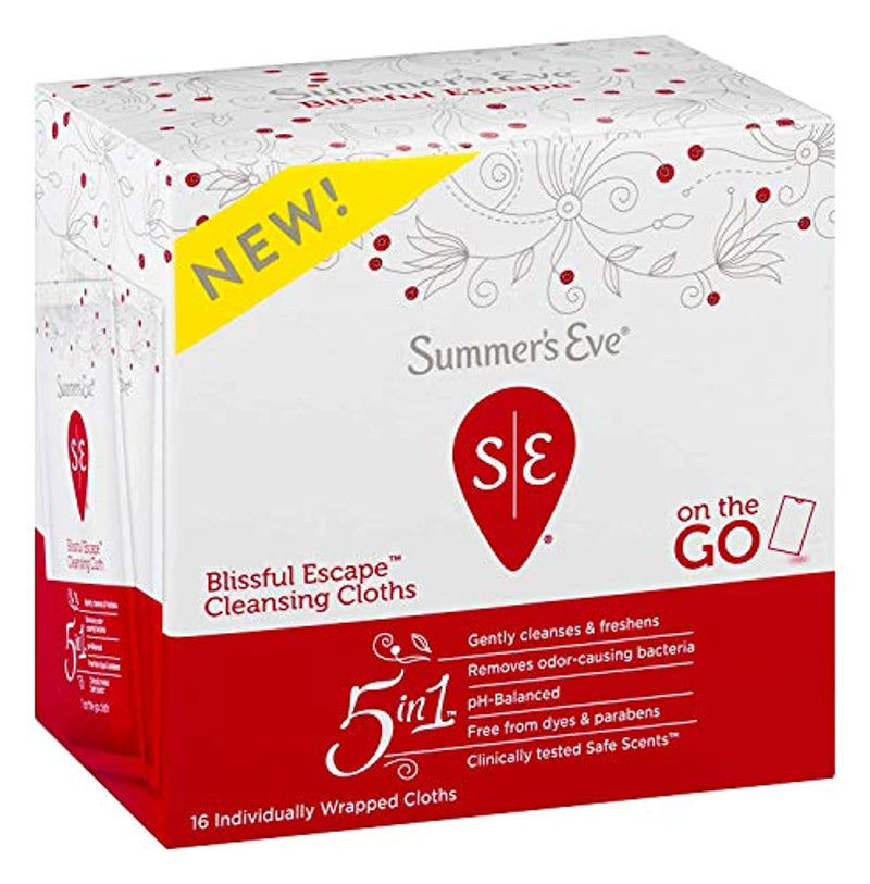 Classier: Buy Summer's Eve Summer's Eve Cleansing Cloths, Blissful Escape, 16 Count
