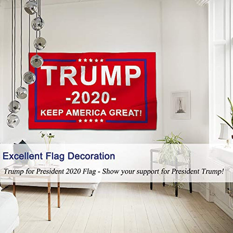 Classier: Buy Donald J. Trump Kaiyuan Dynasty Donald Trump Flag Red Trump Fans Flag 2020 President Bright Double Stitched Banner 3 x 5 Feet with Brass Grommets