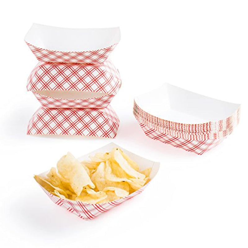 Classier: Buy Super Z Outlet Disposable Paper Food Tray for Carnivals, Fairs, Festivals, and Picnics. Holds Nachos, Fries, Hot Corn Dogs, and More! - 2.5-Pound, 50-Pack