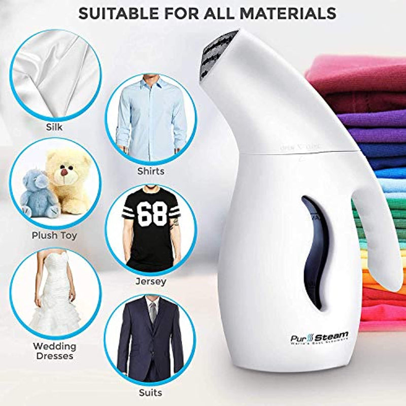 Classier: Buy PurSteam World's Best Steamers PurSteam Garment Steamer For Clothes, Powerful 7-1 Fabric Steamer For Home/Travel. Remove Wrinkles/Steam/Soften/Clean/Sanitize/Sterilize and Defrost with UltraFast-Heat Aluminum Heating Element