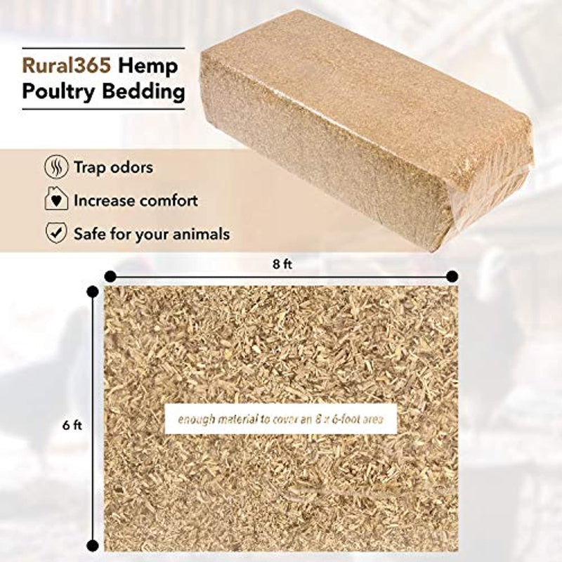 Classier: Buy Rural365 Rural365 Chicken Hemp Bedding - 33lb Industrial Hemp Bale for Small Animal Bedding and Backyard Chicken Coop Supplies