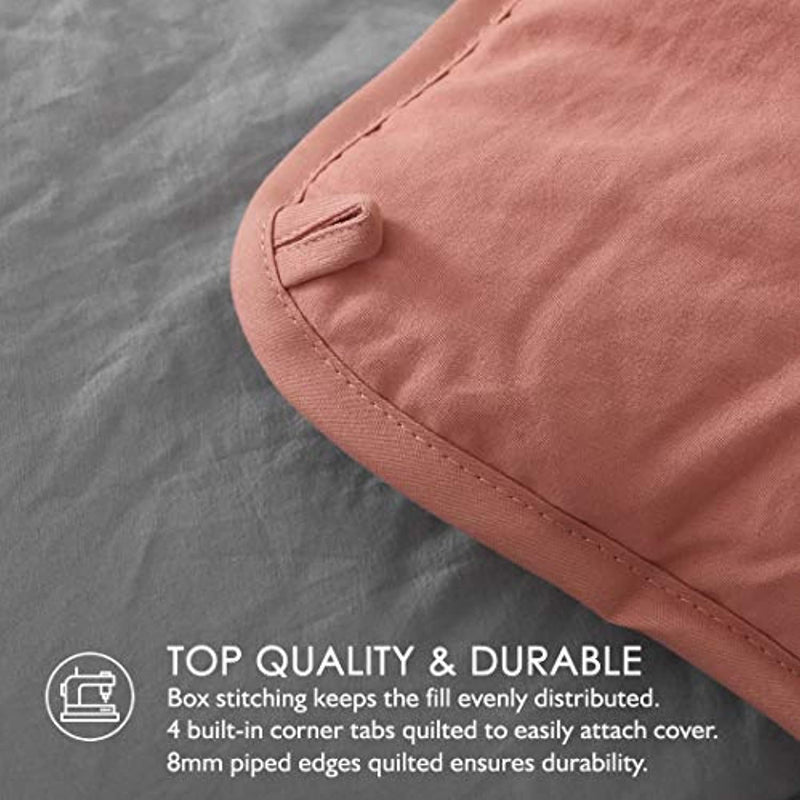 Classier: Buy Dafinner Dafinner Grey/Red Reversible Down Alternative Comforter Queen - 3pc All Season Comforter Set with Shams, Ultra-Soft Washed Brushed Cover, Luxury Plush Recycled Microfiber Comforter Duvet