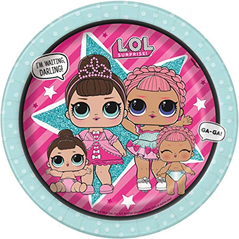 Classier: Buy L.O.L. Surprise! LOL Birthday Party Supplies Set - Dinner and Cake Plates, Cups, Napkins, Decorations (Deluxe with Banner - Serves 16)