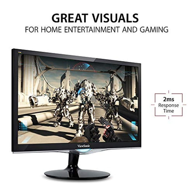 Classier: Buy ViewSonic ViewSonic VX2452MH 24 Inch 2ms 60Hz 1080p Gaming Monitor with HDMI DVI and VGA inputs, Black