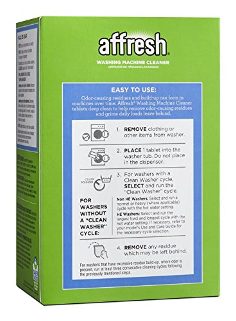 Classier: Buy Affresh Affresh W10501250 Washing Machine Cleaner, 6 Tablets: Cleans Front Load and Top Load Washers, Including HE