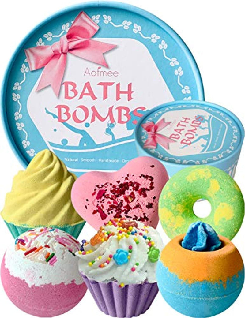 Classier: Buy Aofmee Aofmee Bath Bombs Gift Set, Handmade Bubble and Floating Fizzies Spa Kit, Shea and Cocoa Dry Skin Moisturize, Birthday Valentines Mothers Day Anniversary Christmas Gifts for Women, Mom, Her, Kids