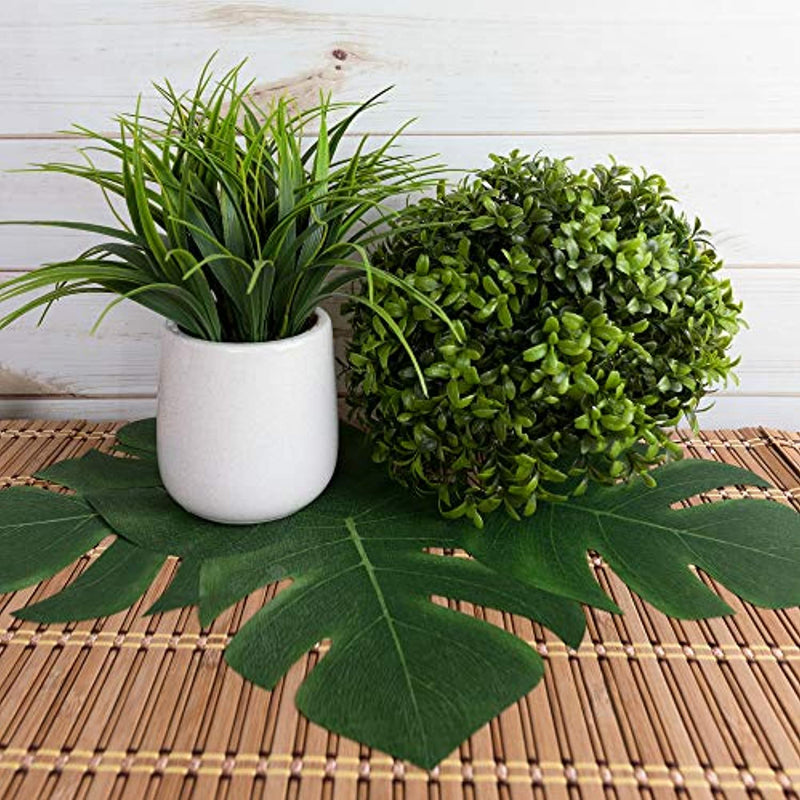 "Classier: Buy Super Z Outlet Super Z Outlet Tropical Imitation Plant Leaves 8"" Hawaiian Luau Party Jungle Beach Theme Decorations for Birthdays, Prom, Events (12 Pack)"