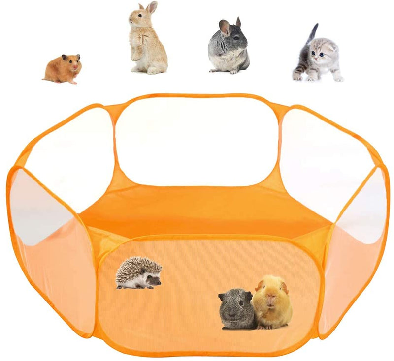 Classier: Buy Amakunft Amakunft Small Animals C&C Cage Tent, Breathable & Transparent Pet Playpen Pop Open Outdoor/Indoor Exercise Fence, Portable Yard Fence for Guinea Pig, Rabbits, Hamster, Chinchillas and Hedgehogs