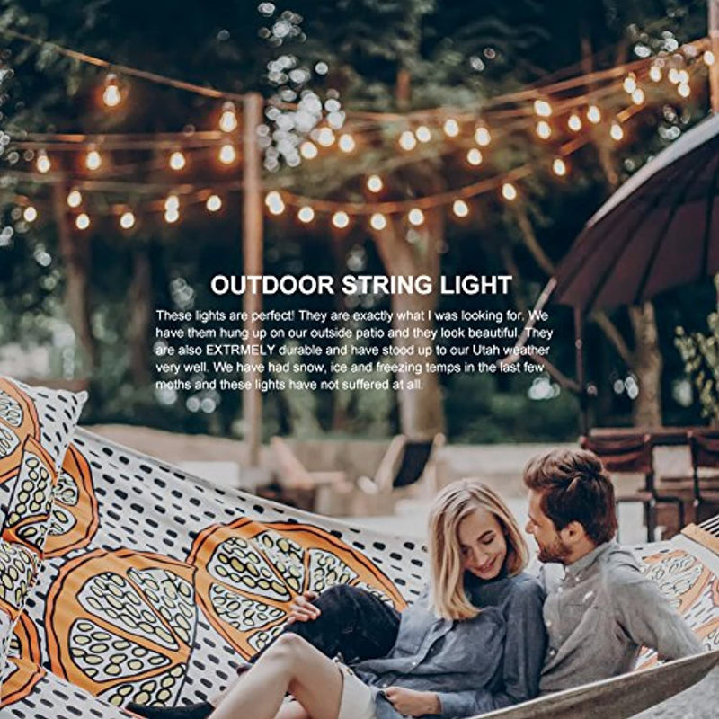 Classier: Buy addlon 48 FT ADDLON Outdoor String Lights Commercial Grade Weatherproof Strand Edison Vintage Bulbs 15 Hanging Sockets, UL Listed Heavy-Duty Decorative Cafe Patio Lights for Bistro Garden