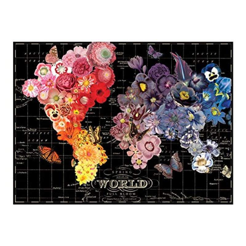 Classier: Buy Galison Galison Full Bloom World Map Puzzle