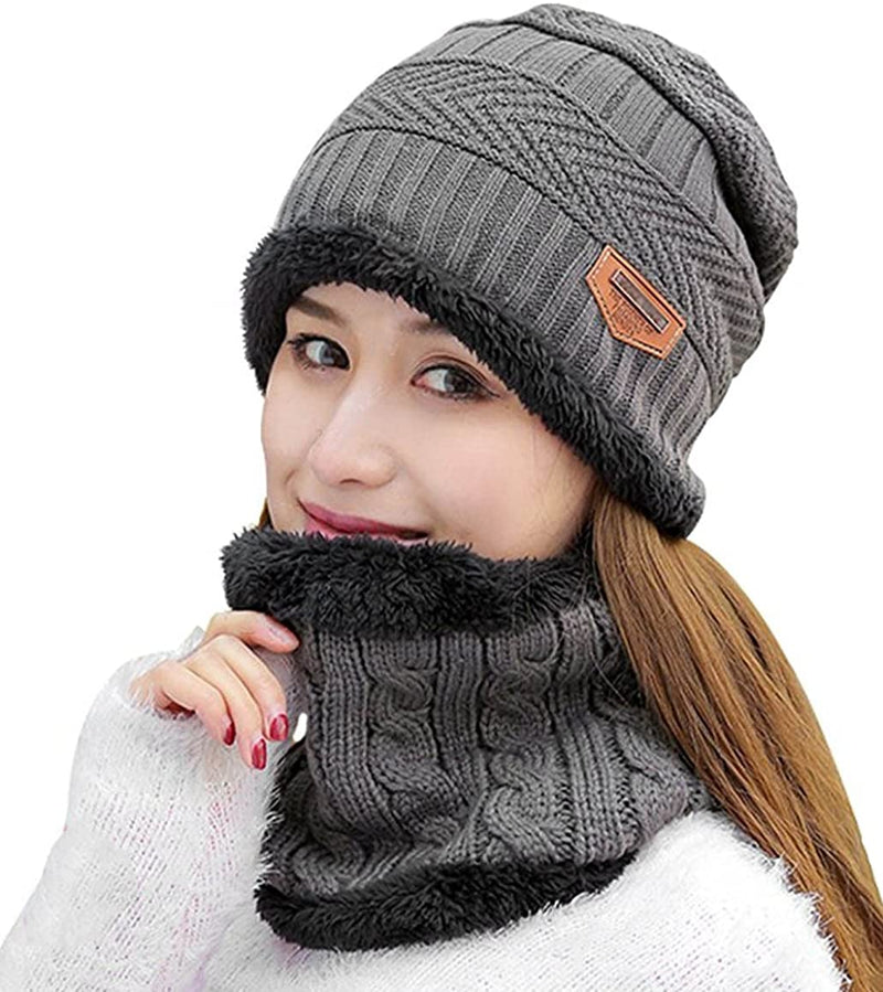 Classier: Buy HINDAWI HINDAWI Womens Slouchy Beanie Winter Hat Knit Warm Snow Ski Skull Outdoor Cap