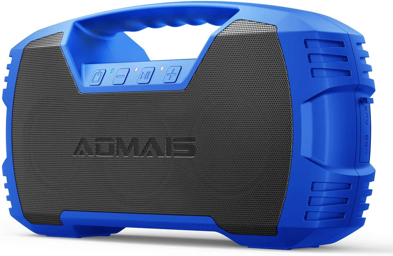 Classier: Buy AOMAIS AOMAIS GO Bluetooth Speakers, 40H Playtime Outdoor Portable Speaker, 40W Stereo Sound Rich Bass, IPX7 Waterproof Bluetooth 5.0 Wireless Pairing,10000mAh Power Bank, for Party, Travel [2020 Upgrade]