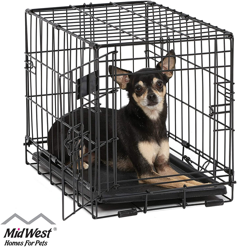 Classier: Buy MidWest Homes for Pets MidWest Homes for Pets Dog Crate | iCrate Single Door & Double Door Folding Metal Dog Crates | Fully Equipped