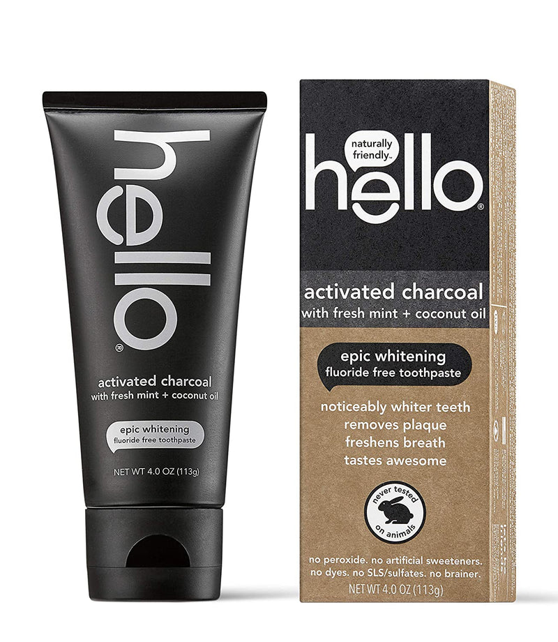 Classier: Buy Hello Oral Care Hello Oral Care Activated Charcoal Teeth Whitening Fluoride Free and SLS Free Toothpaste, 1 Count