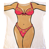 Pink Frangipani Women's Cover Up from Body Dreams Australia