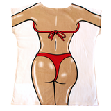 Red Bikini Women's Cover Up