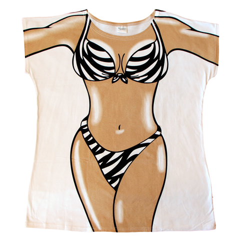 Zebra Skin Women's Cover Up from Body Dreams Australia