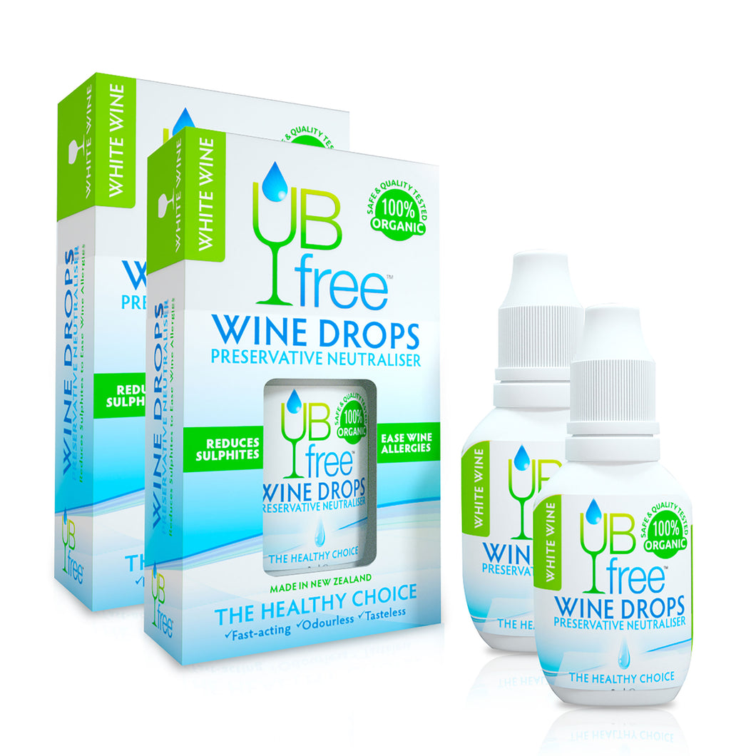 UBfree Wine Sulfite Remover - White Wine 8ml Dropper Bottle (2 Pack)
