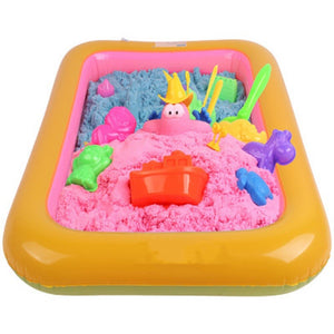 Kids Indoor Multifunction Inflatable Sand Tray Educational Toys for Children Sand Modeling Clay Supplies Slime Table Accessories