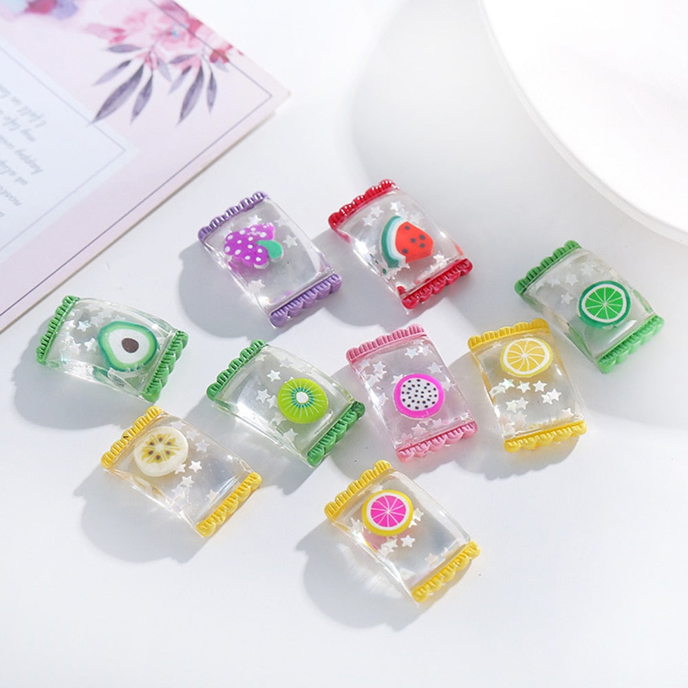 Charms for Slime Colorful Candy Polymer Filler Slime Addition Toy for Kids Children Charms Modeling Clay DIY Accessories