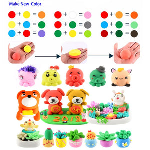24 Colors x20g Oven Baking Polymer Clay Modeling Clay Floam Slime Toys Fluffy Slime Box Light Plasticine for Children DIY