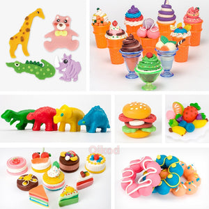 Kids DIY Slime Color Play Dough Model Animal Cake Fruit Tools Plasticine Set Clay Moulds Sets Educational Toys for children Gift