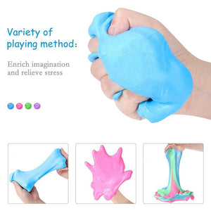 DIY Slime Lizun Fluffy Polymer Clay charms Supplies Soft Air Slime Bead Plasticine Putty Sand Kit Goo Antistress Kids Toys