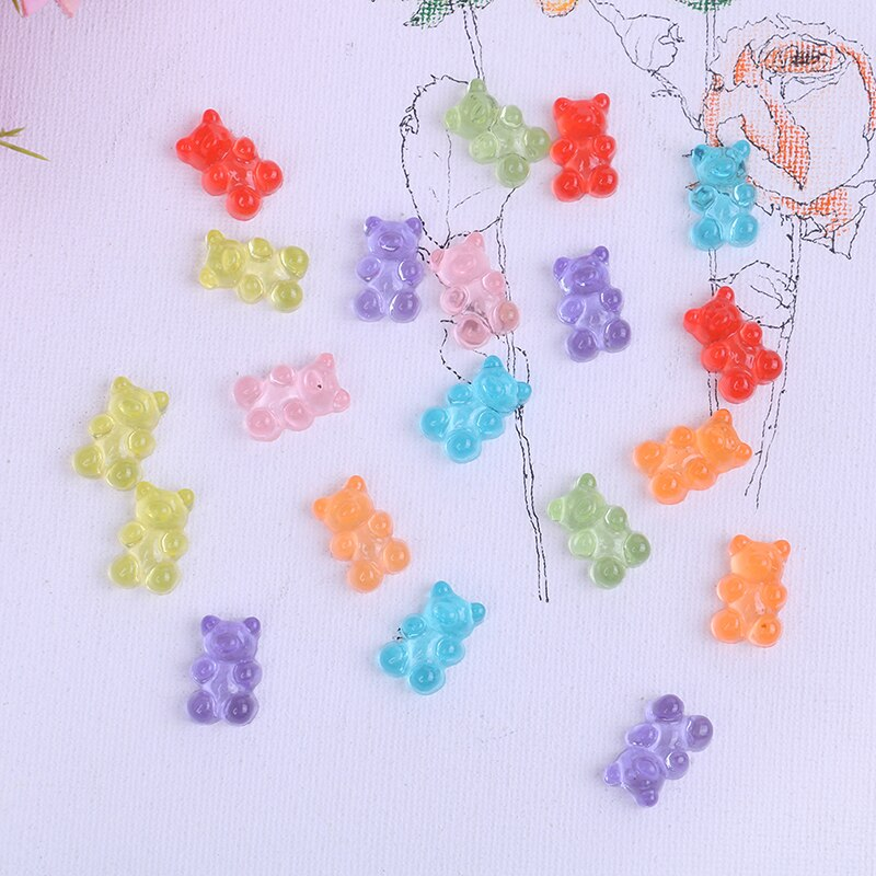 Sprinkles Mini Bear Candy Polymer Slime Box Toy For Children Resin Charms Lizun Modeling Clay DIY Kit Accessories Kids Gift