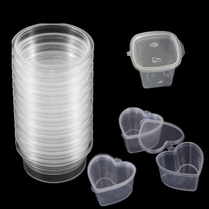 2020 New Plastic Color Plasticine Clear Containers DIY Clay Printing Craft Storage Containers Organizer Box with Lids Slime
