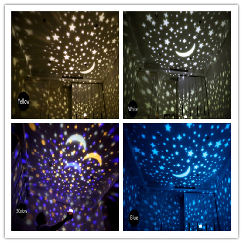 Starry Sky Night Light Planet Magic Projector Earth Universe LED Lamp Colorful Rotate Flashing Star Kids Baby Christmas Gift