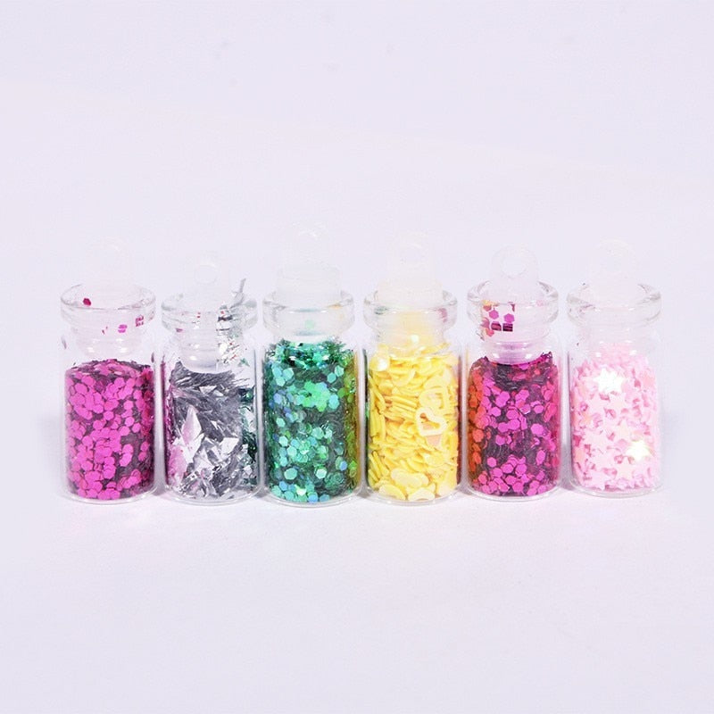48color Slime Sequins/glitter Filler Fluffy Box Toys For Children Charms Lizun Diy Kit Decoration Toy Accessories