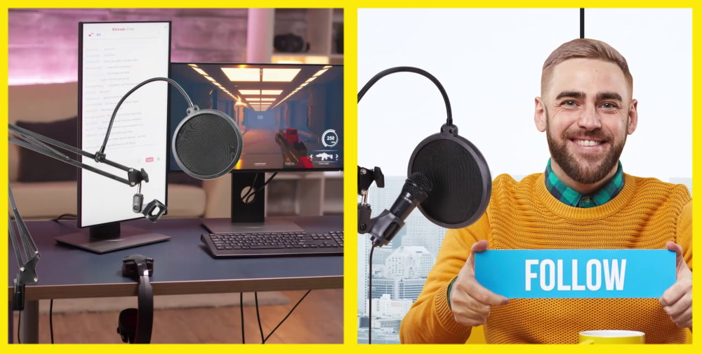 Microphone Boomarm with Pop Filter