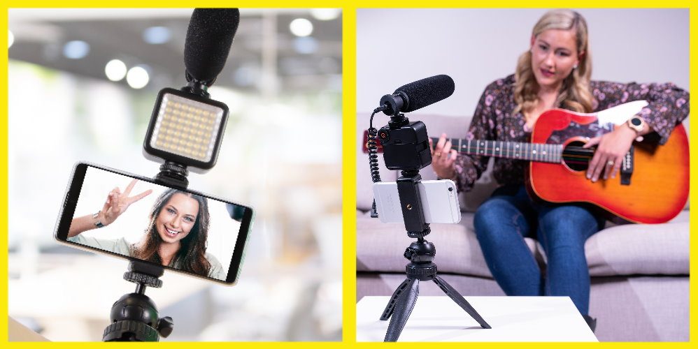Professional Vlog Kit with Microphone and Light