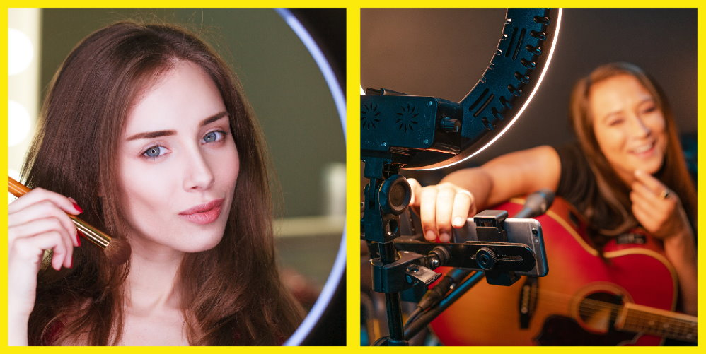14 Inch Ring Light Studio Kit with Light, Tripod, Mic and Phone Mounts