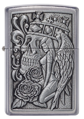 Zippo Skull and Angel Emblem Design (49442)
