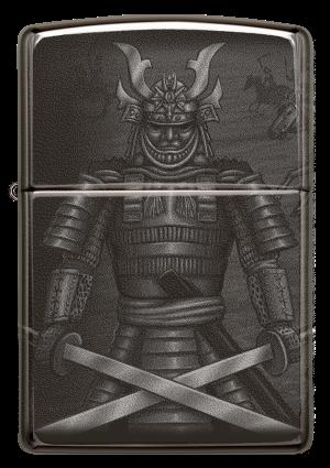Zippo High Polish Black, Knight Fight Design (49292)