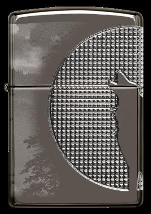 Zippo Armor® High Polish Blace Ice®, Wolf Design (49353)