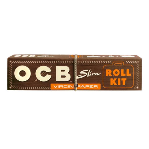 OCB Unbleached Slim + Roll Kit Box