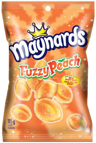 Maynards Fuzzy Peach Peg 185G*12 (124014) Top 25 2020