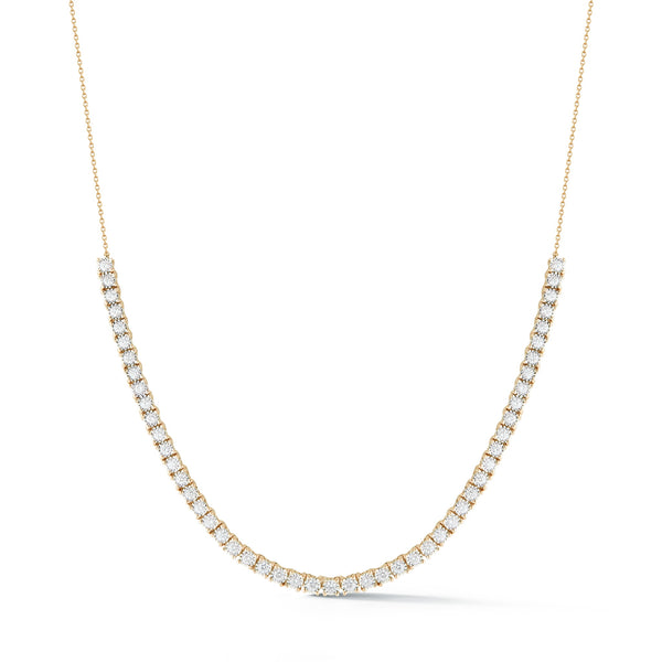 Tennis Necklace, Yellow Gold