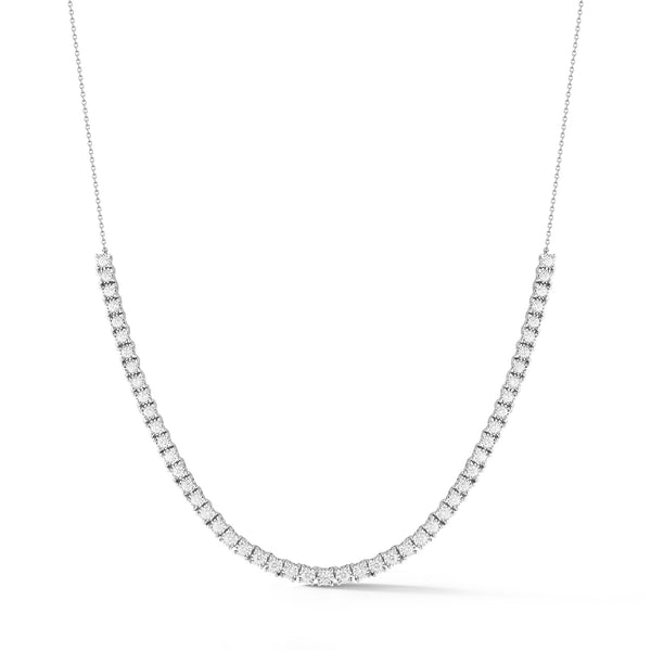Tennis Necklace, White Gold
