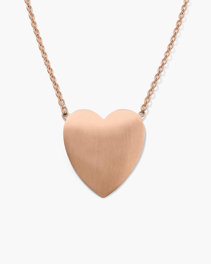 Extra Large Love Necklace, 18K Rose Gold
