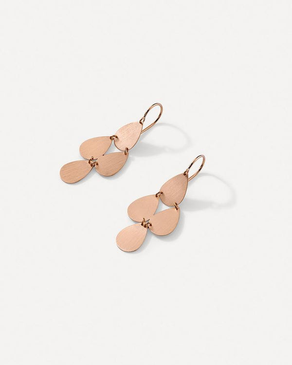 Four Drop Earrings, Rose Gold