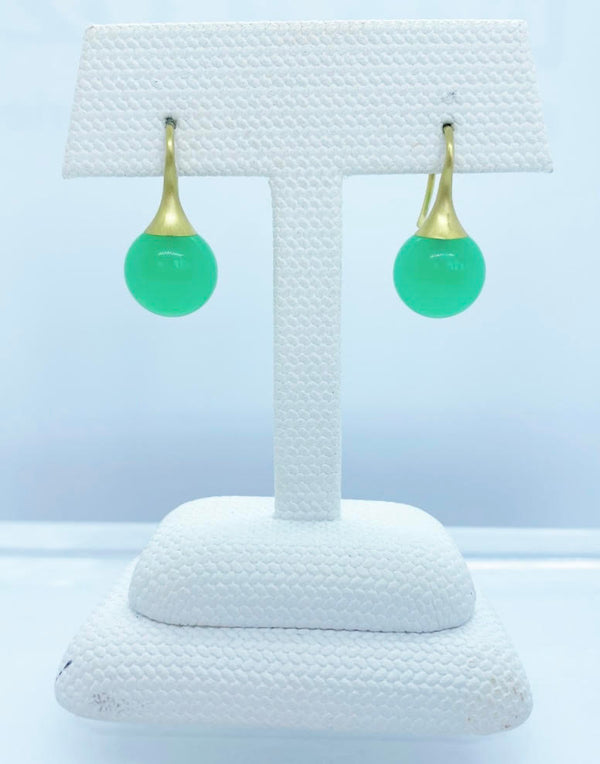Gumdrop Earrings, Crysoprase