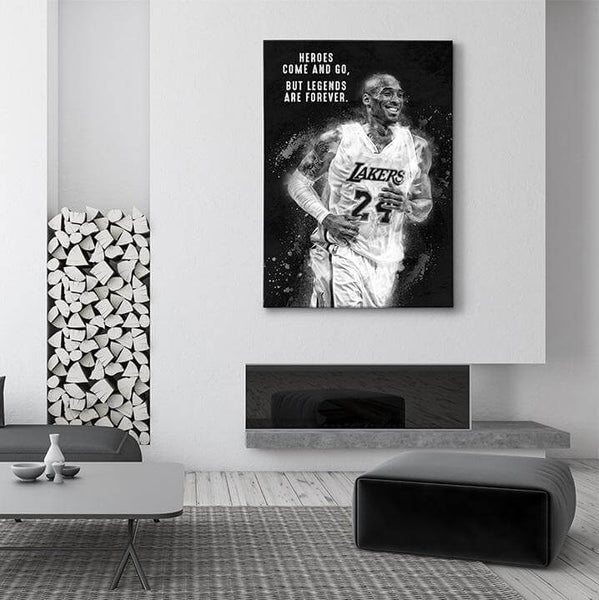 legends are forever kobe bryant canvas