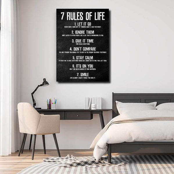 7 rules of life canvas